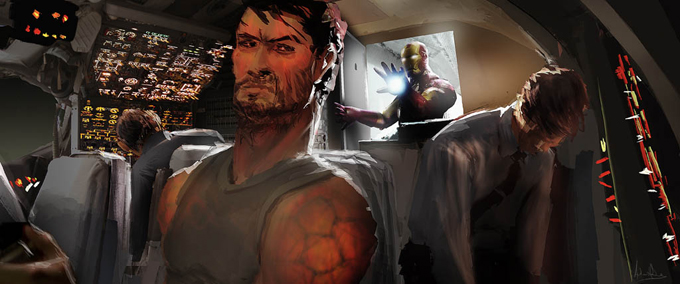 Iron Man 3 Concept Art by Andrew Leung