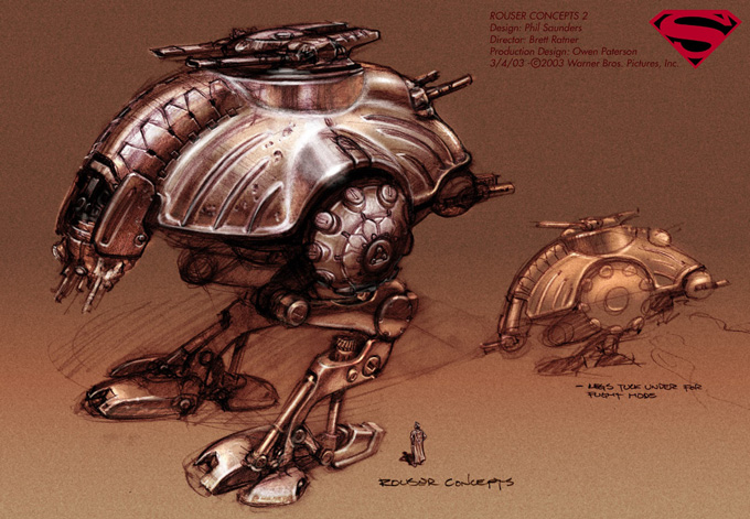 Superman: Flyby Concept Art by Phil Saunders