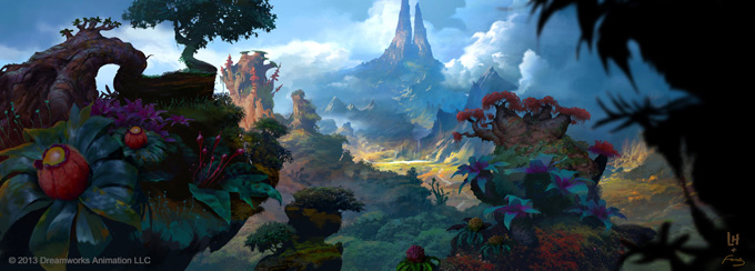 The Croods Visual Development Designs by Arthur Fong