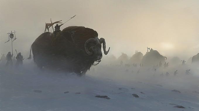 Fall of Gods Concept Art Caravane Jotunn