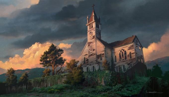 The_Last_of_Us_Concept_Art_Bills_Town_Church_AL-01