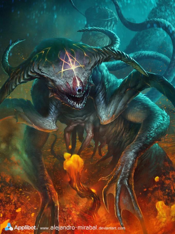 Alejandro_Mirabal_deep_sea_demon_lava_thing