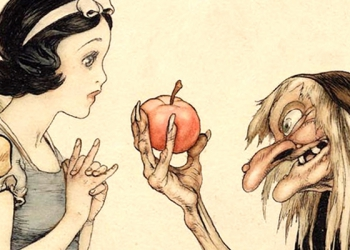 Snow White and the Seven Dwarfs Concept Art Illustration MA01