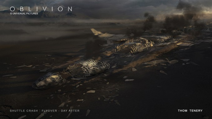 ThomTenery_Oblivion_Concept_Art_Shuttle_Crash_DA