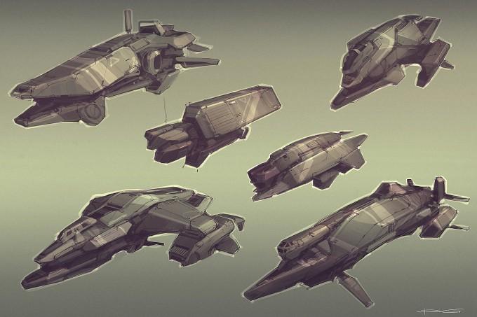 Quantum_Rush_Concept_Art_civ_ships_sktches_all