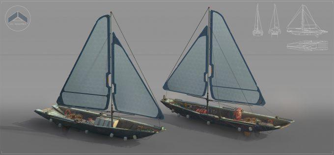 steve shi concept art boat