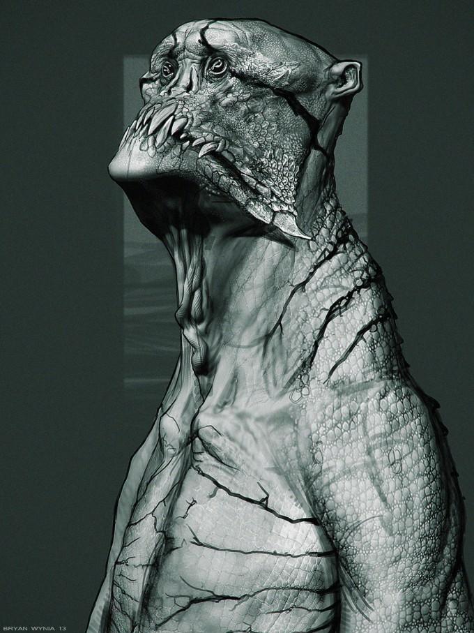 Bryan_Wynia_Art_monsterhead_sketch
