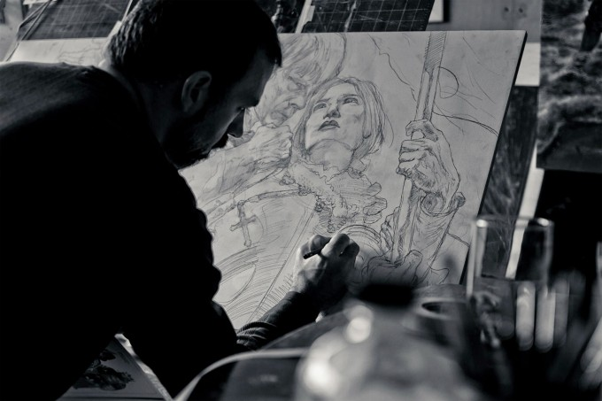 Painting_Joan_of_Arc_with_Donato_Giancola_03