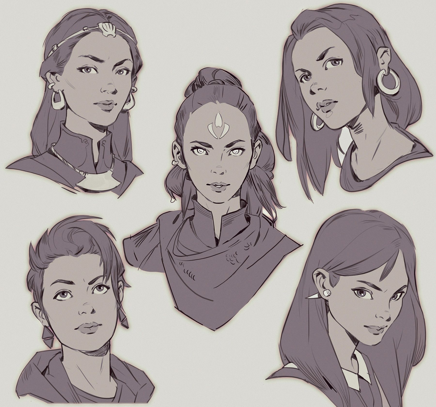 mitch mohrhauser concept art faces