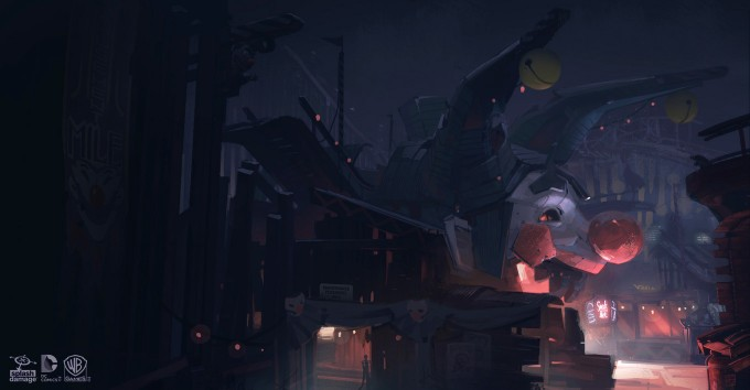 Batman_Arkham_Origins_Concept_Art_GS_FunHouse_FenderDentersFunhouseApproach