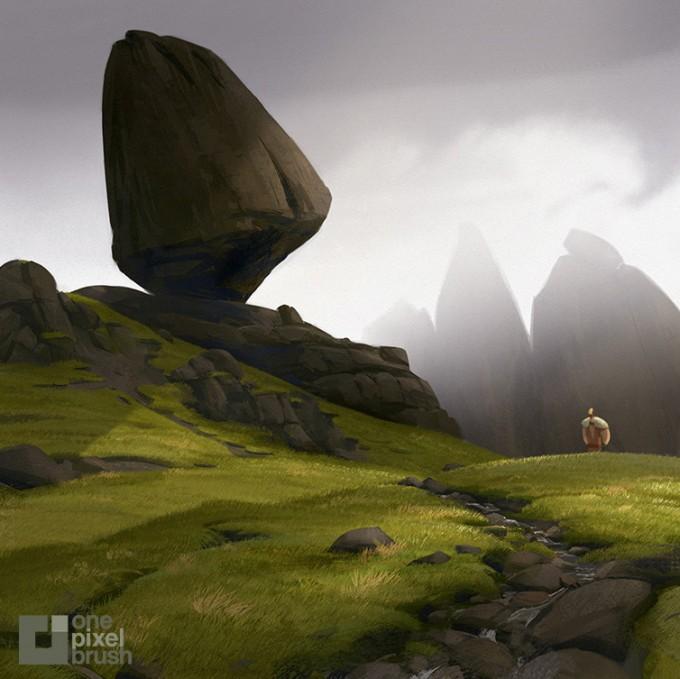 Christo-Rock-Concept_Art_OnePixelBrush