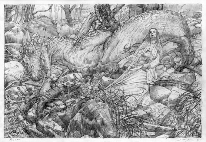 Middle-Earth_Hobbit_Nienor_Turin_Donato_Giancola_Art_01