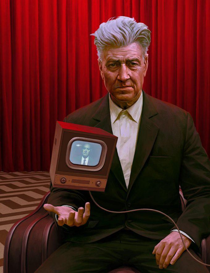 David Lynch Portrait The New Republic Jeremy Enecio 01