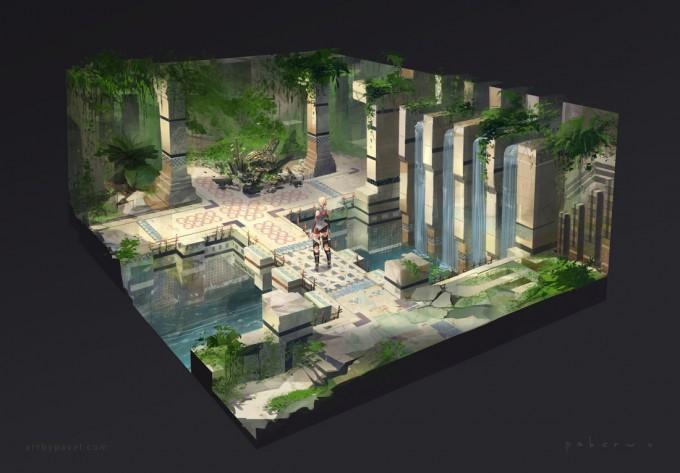 Pavel_Elagin_Concept_Art_temple_ent_diorama