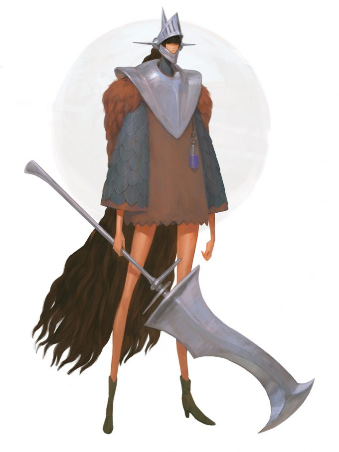 konstantin maystrenko concept art illustration battle sisters ol