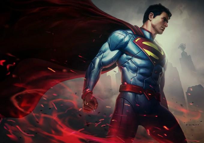 Infinite_Crisis_Character_Art_PG_Superman_Poster