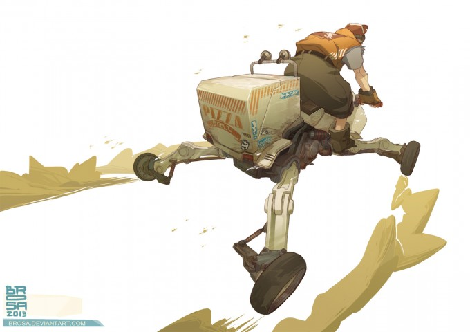 Sergi_Brosa_Concept_Art_Illustration_Delivery-express-Pizza