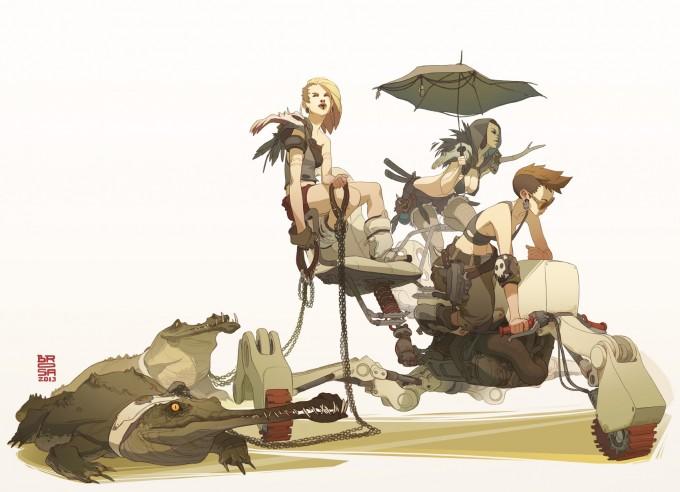Sergi_Brosa_Concept_Art_Illustration_Pirate-Girls