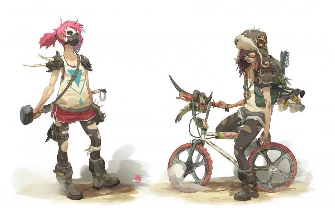 Sergi_Brosa_Concept_Art_Illustration_Wasteland-Girls1