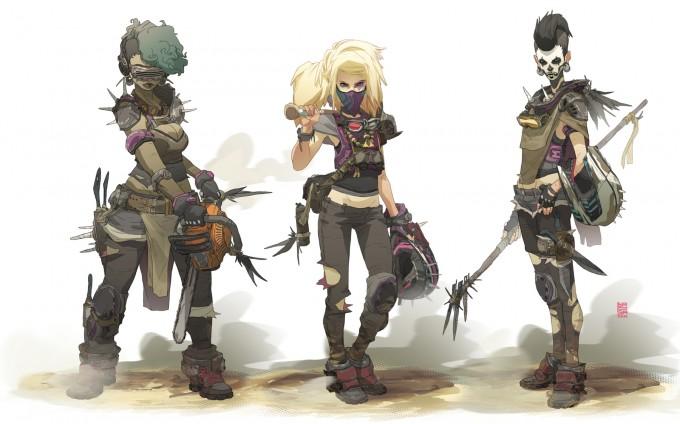 Sergi_Brosa_Concept_Art_Illustration_Wasteland-Girls2