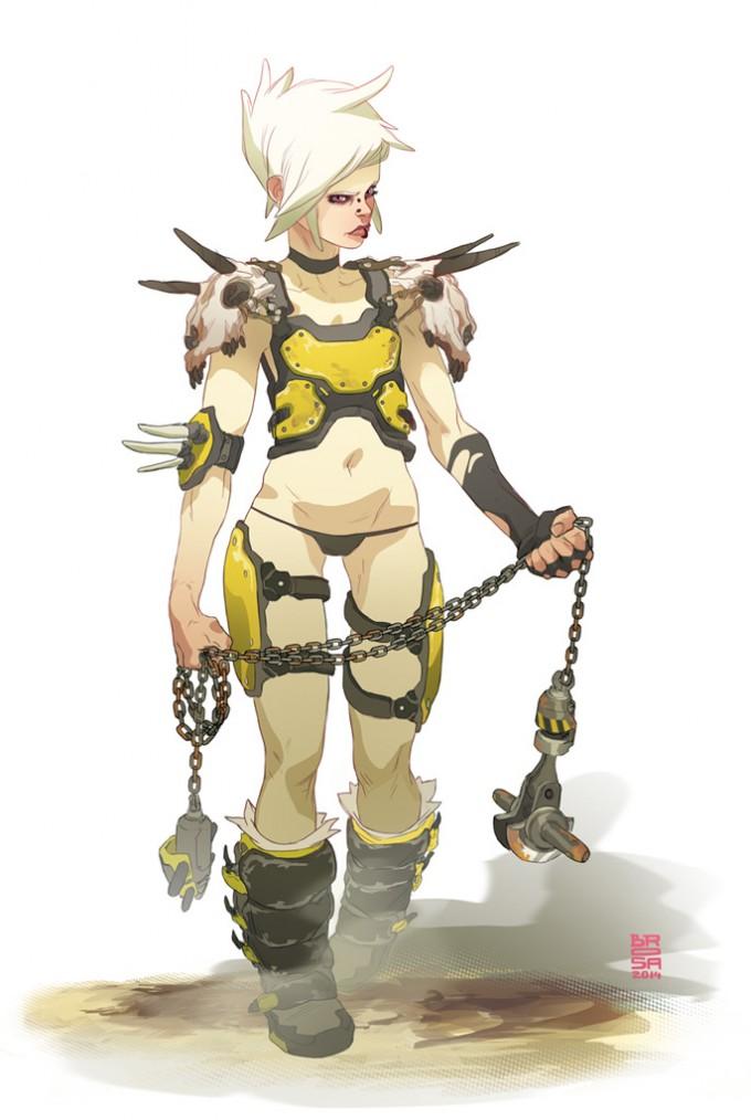 Sergi_Brosa_Concept_Art_Illustration_Wasteland-Warrior-twin1