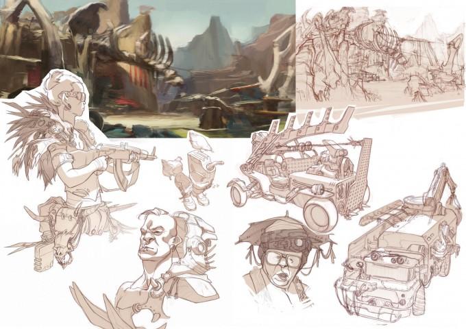 Sergi_Brosa_Concept_Art_Illustration_Wasteland-people-sketch3