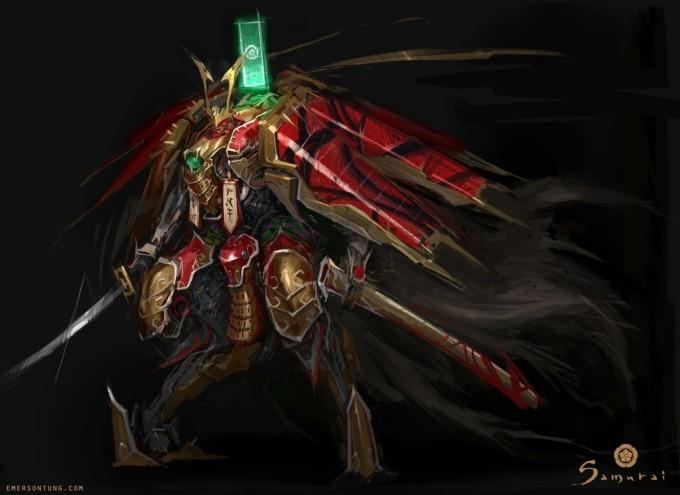 Emerson_Tung_Concept_Art_Samurai_Mech_Nobunaga
