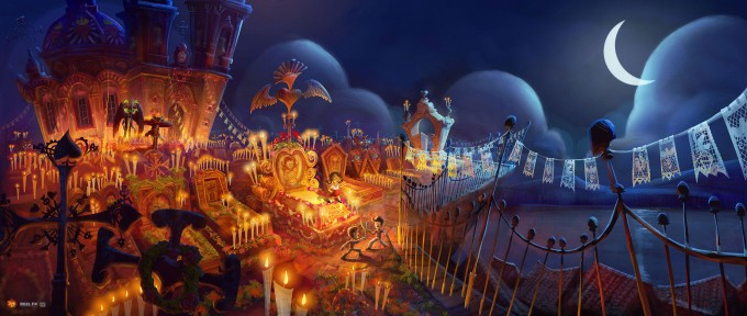 The_Book_of_Life_Conept_Art_Illustration_Cemetery_at_Night