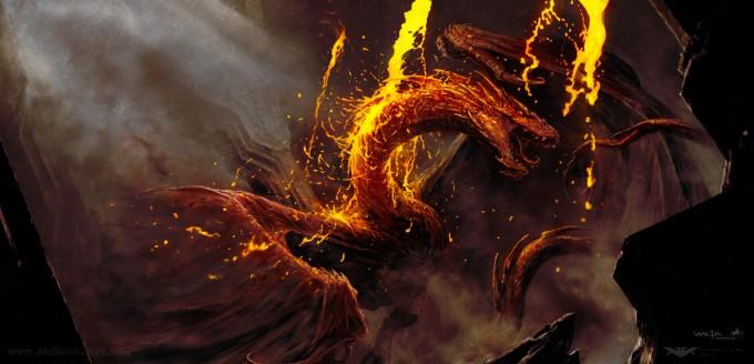 The_Hobbit_The_Desolation_of_Smaug_Concept_Art_EreborSmaugBattle_MoltenGold_NK