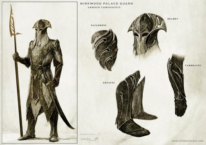 The_Hobbit_The_Desolation_of_Smaug_Concept_Art_Mirkwood_PalaceGuard_Components_NK