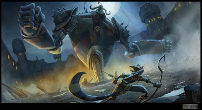 Paul_Sullivan_Concept_Art_Illustration_Megablack_knight_actionshot