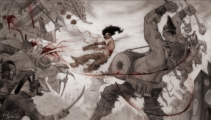 Paul_Sullivan_Concept_Art_Illustration_procession battle