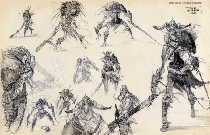 Paul_Sullivan_Concept_Art_Illustration_viking_and_mayan_thrall_studies