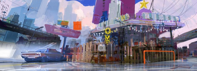 Sunset Overdrive Art by West Studio