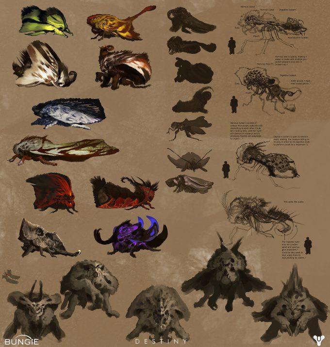 Destiny Concept Art Daniel Chavez Moth Exploration