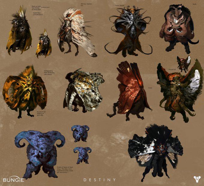 Destiny Concept Art Daniel Chavez Moth Lord