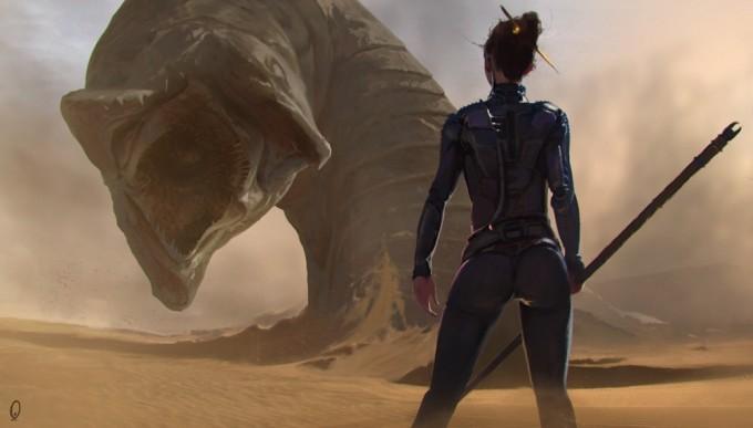 Dune_Concept_Art_Illustration_01_Mark_Kent_sandworm