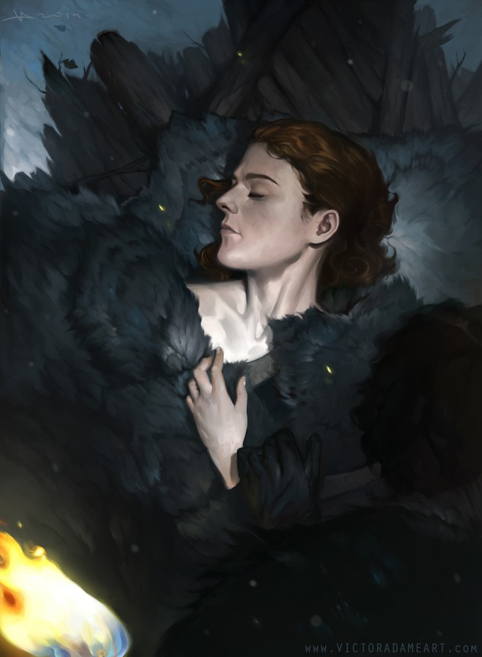 Game_of_Thrones_Concept_Art_Illustration_01_Victor_Adame_Death-and-Snow-Ygritte