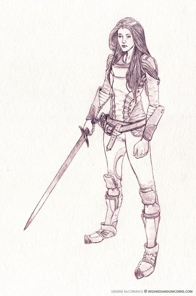Graeme_McCormack_Concept_Art_Illustration_Female-Fight