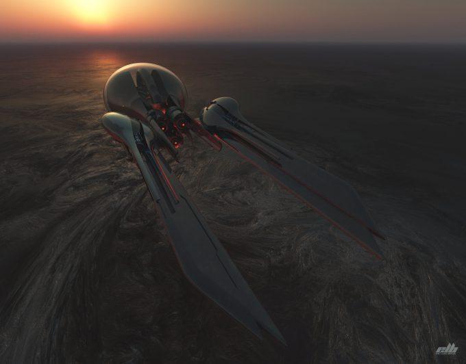 eric lloyd brown concept art design drone 2250 solo