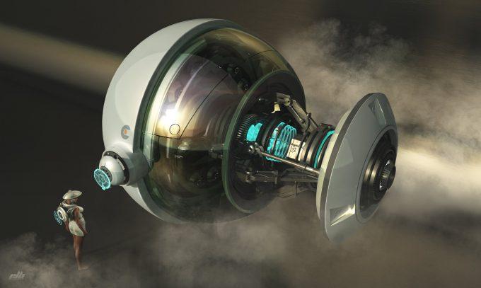 eric lloyd brown concept art design temporal engine core