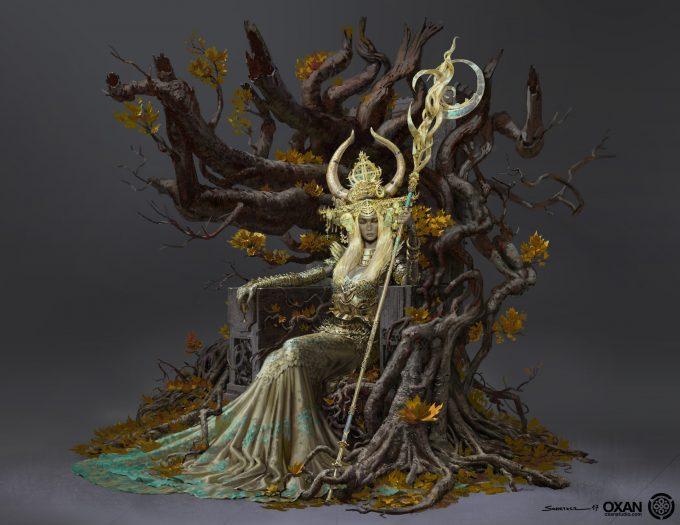 yohann schepacz oxan studio concept art elf queen f