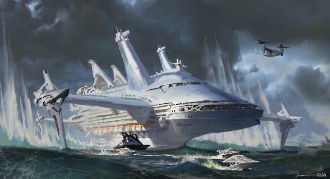 yohann schepacz oxan studio concept art hyper cruiser 01