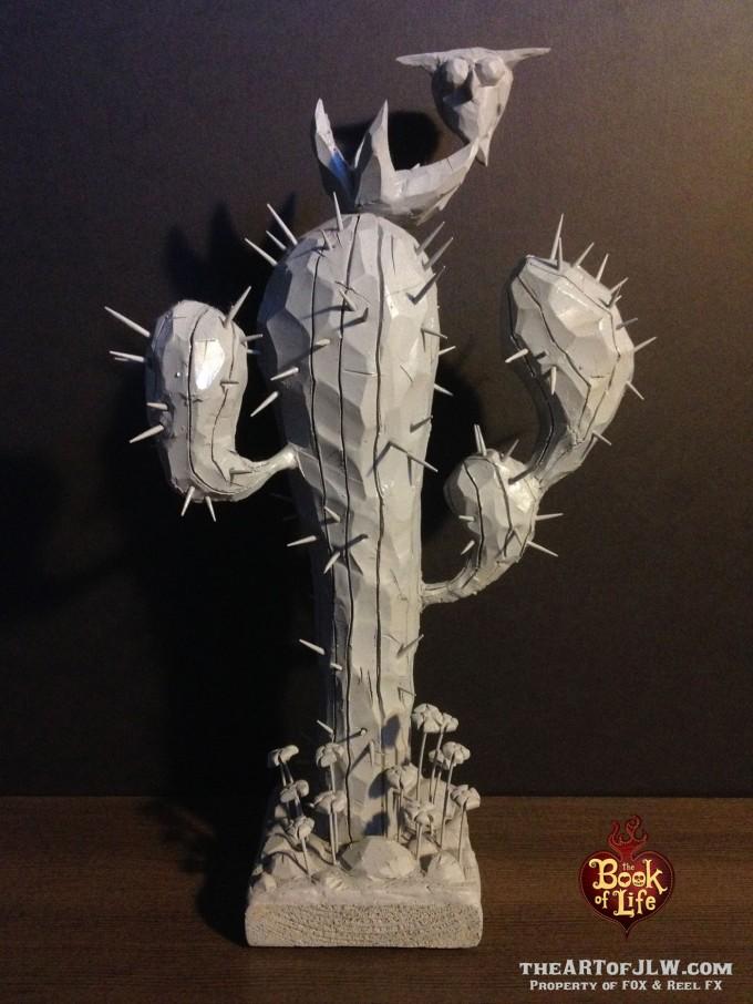32_Book_of_Life_Concept_Art_JLW_Cactus_Sculpture