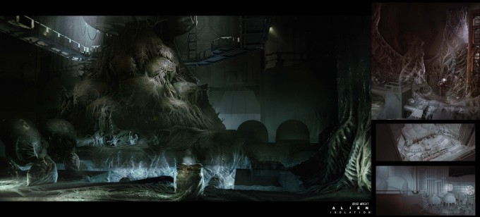 Alien_Isolation_Concept_Art_BW_reactor-core-hive2