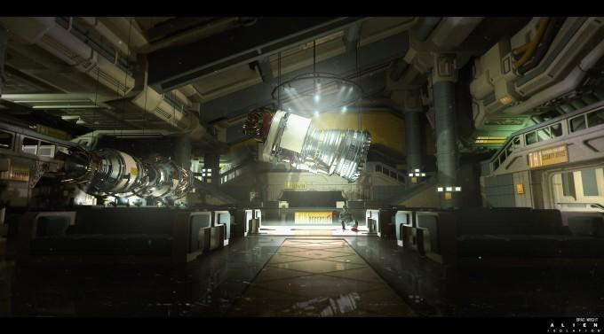 Alien_Isolation_Concept_Art_BW_tech-lobby
