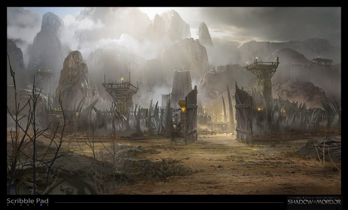 Middle_earth_Shadow_of_Mordor_Concept_Art_JP_camp_front_gate