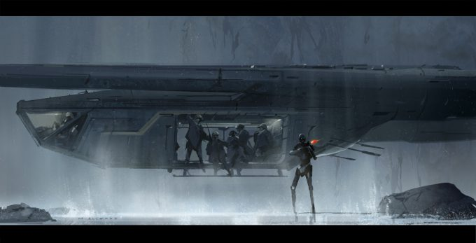Star Wars Rogue One Concept Art Matt Allsopp 02 U Wing