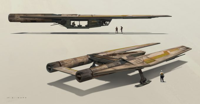 Star Wars Rogue One Concept Art Matt Allsopp 03 U Wing