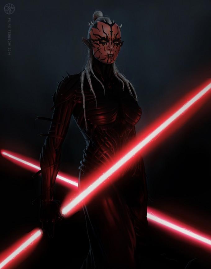 Star_Wars_Art_Illustration_01_Furio_Tedeschi_Concept_Sith_Fem
